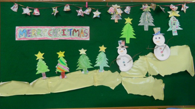 Merry X'mas by children from 3-6 years old
